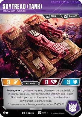 Tank Wave 4 UT T48 UT T49 Plane Transformers tcg Raider Skytread